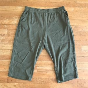 SALE!! 5/$25 Woman Within Army Green Capris